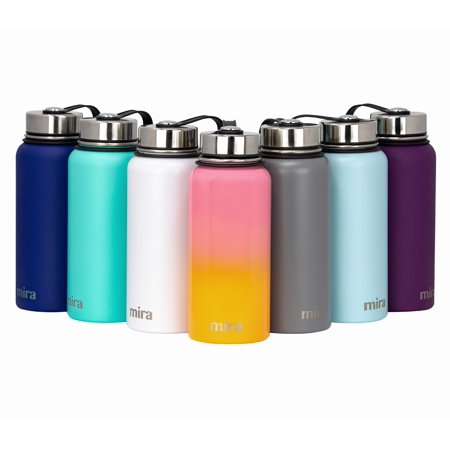 1df107f7db MIRA 32 Oz Stainless Steel Vacuum Insulated Wide Mouth Water Bottle |  Thermos Keeps Cold for 24 hours, Hot for 12 hours | Double Walled Travel  Flask | Star ...
