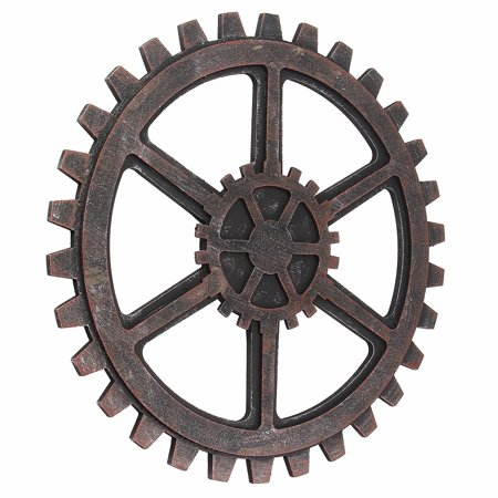 16'' DIY Industrial Antique Vintage Wooden Gear Wall Hanging Steampunk Home Bar Cafe Office Art Decor