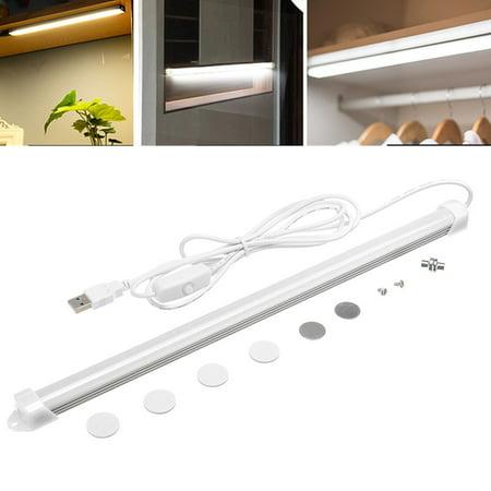 LED Strip Bar Light, 1/2 Pcs 20-LED LED Closet Light Night Light Under Cabinet Lighting,USB Powered for Closet/Drawer/Cupboard Length 1.8m,