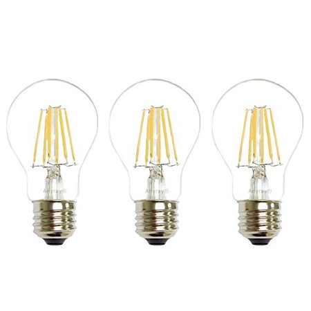 3 bulbs anyray 40 watt equivalent a19 led light bulb clear e26 vintage edison style warm. Black Bedroom Furniture Sets. Home Design Ideas