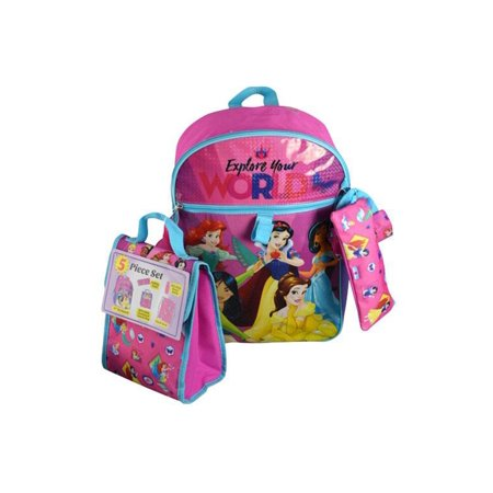 Punk Disney Princesses (Princess Disney Princess Explore Your World Pink Backpack (5pc Set) Novelty Character Fashion)