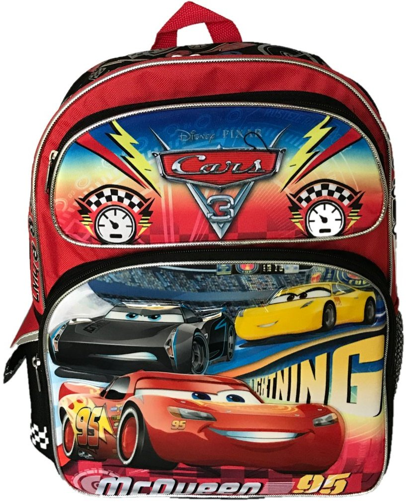 "Backpack Disney Cars 3 McQueen Big Race 16"" 109486 by Ruz"