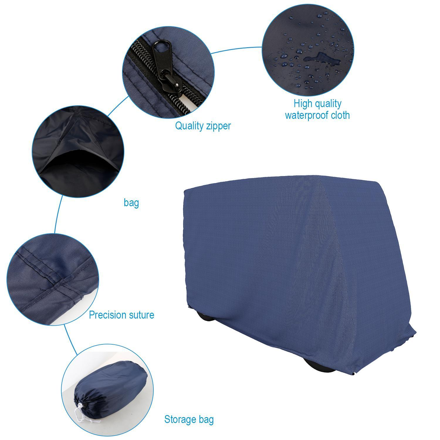 Cdicount Waterproof Golf Cart Cover Covers Club Car, EZGO...