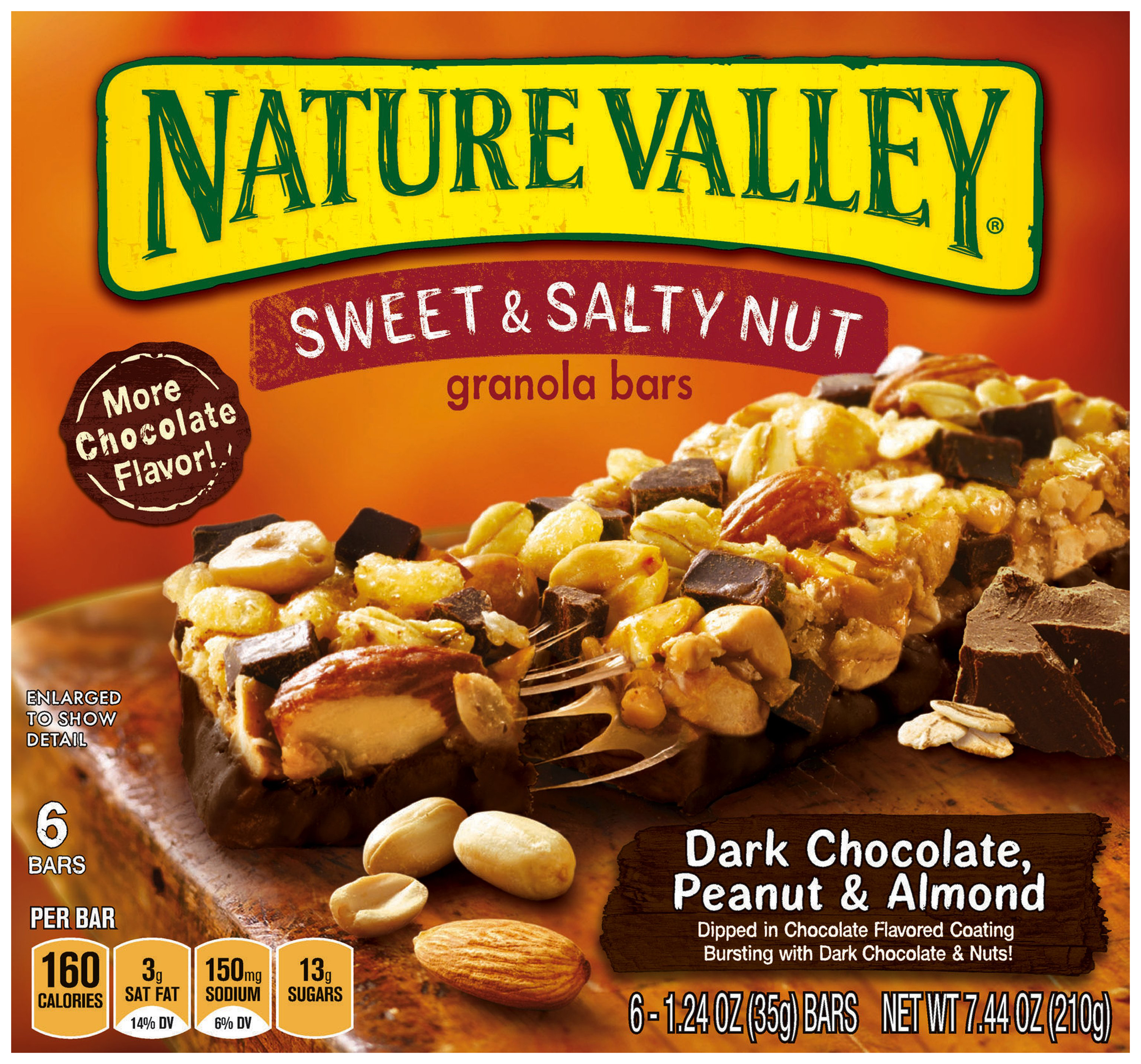 Nature Valley�� Dark Chocolate, Peanut & Almond Sweet & Salty Nut Granola Bars 6 ct. Box