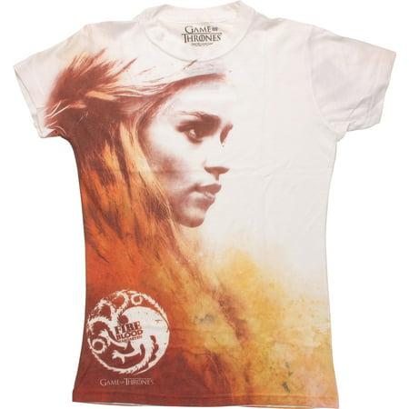6fb15bce Game of Thrones - Game of Thrones Daenerys Targaryen Juniors T-Shirt -  Walmart.com