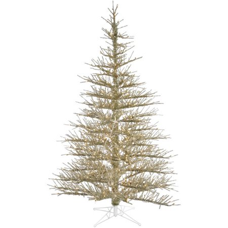 Vickerman 8.5' Champagne Stiff Needle Artificial Christmas Tree with 850 Clear Lights