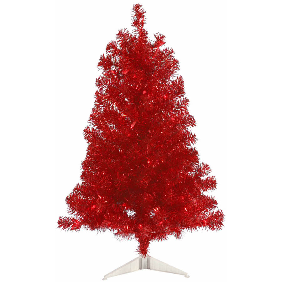 Vickerman 3' Red Artificial Christmas Tree with 50 Red Lights