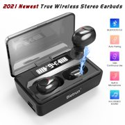 Wireless Bluetooth Earbuds, Bietrun Update Bluetooth 5.0 Wireless Headphones 100 Cycle Playing Time Deep Bass Bluetooth Earphones Headset with 1800mAh Charging Case for iPhone/Android Cell Phone