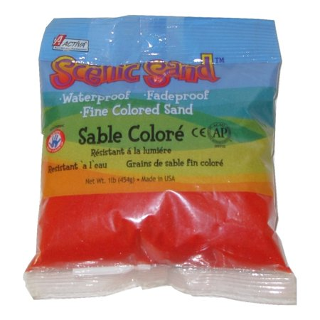 Activa Scenic Sand, 1 lb., Bright Red](Navy Blue Sand)