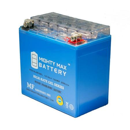 YTX14L-BS GEL Battery for Honda TRX Rubicon Foreman (Rubicon Atv)
