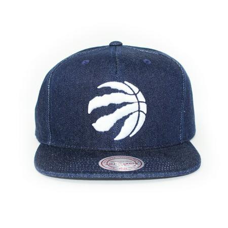 Mitchell and Ness Toronto Raptors Polka Dot Denim Blue Snapback Hat - image 5 of 5
