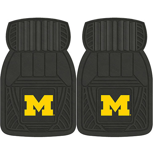 NCAA 2-Piece Heavy-Duty Vinyl Car Mat Set, University of Michigan