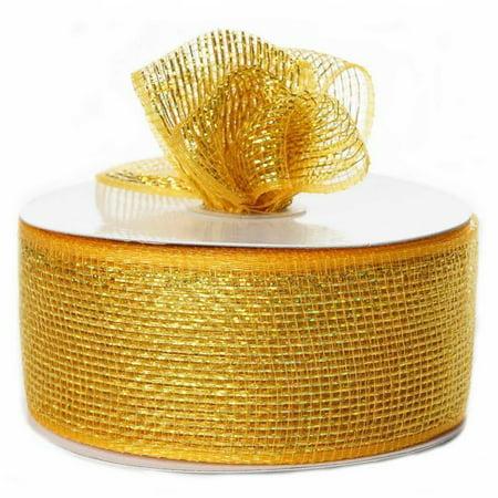 BalsaCircle 2.5-Inch x 25 yards Deco Mesh Ribbon by the Roll - Wedding Party Favors Decorations DIY Craft Satin Deco Circles