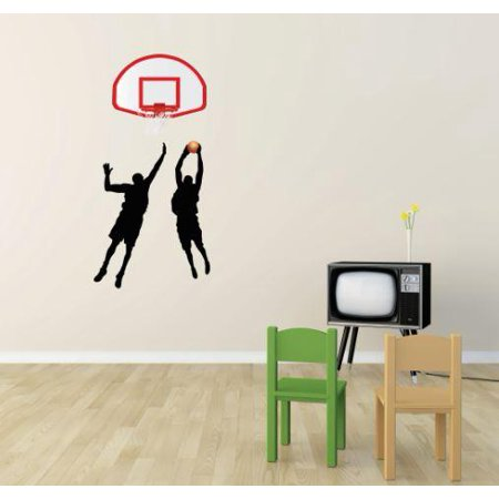 Vinyl Wall Decal Sticker   Basketball Winner Sports Boy Girl Teen     Bedroom Bathroom Living Room Picture Art Peel   Stick Mural Size  8 Inches X 24 Inches   22 Colors Available