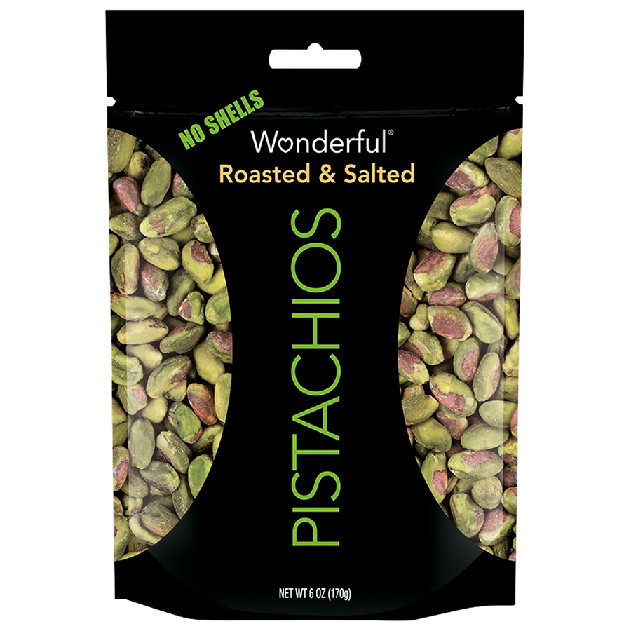 Wonderful Pistachios, No Shells, Roasted & Salted, 6 Oz