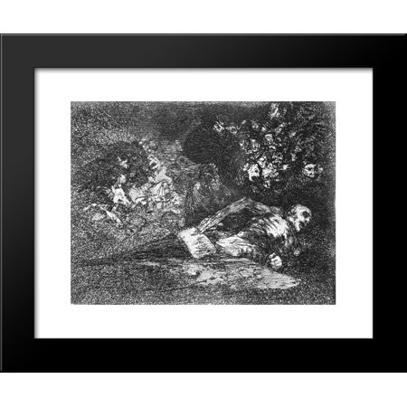 Nothing. The event will tell 20x24 Framed Art Print by Francisco Goya