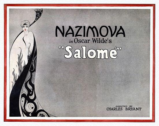 THEATRE PLAY STAGE SALOME OSCAR WILDE NAZIMOVA Poster Canvas art Prints