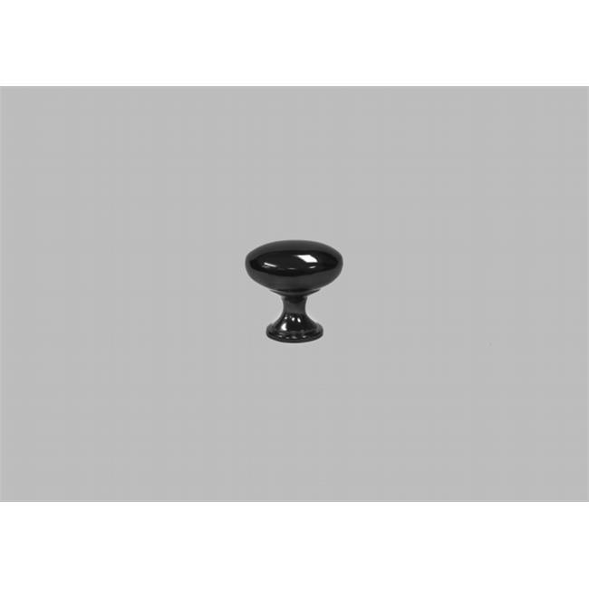 LessCare LCP13 1. 13 inch x 1. 25 inch Knob in Black Gloss