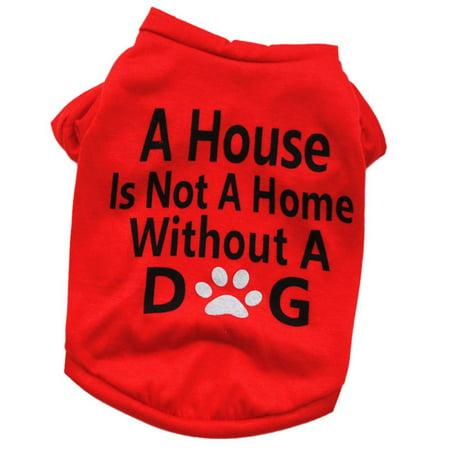 Summer Pet Dog Cotton Shirt Clothes Puppy Cat Vest T-shirt Apparel (50's T-bird Dog Costume)