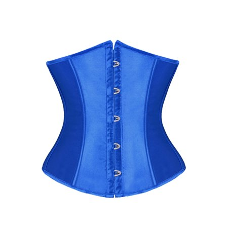 LELINTA Woman Satin Cupless Underbust Corset Plus Size Bustier Waist Training Corsets Corselet Top Shapewear + G-String,S-6XL ()