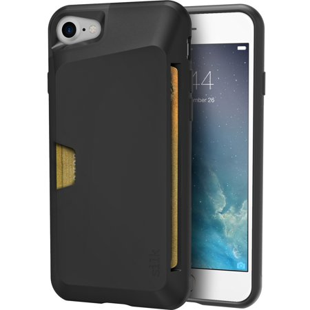 Smartish iPhone 7/8 Wallet Case - Wallet Slayer Vol. 1 [Slim + Protective + Grip] Credit Card Holder for Apple iPhone 8/7 (Smartish) - Black Tie Affair