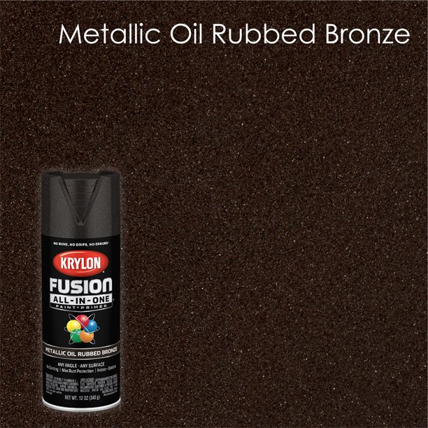 Krylon Fusion All In One Spray Paint Metallic Oil Rubbed Bronze 12 Oz Walmart Com Walmart Com