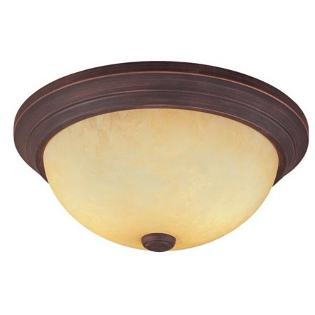 Millennium Lighting Traditional 5163 Ceiling/Flush Mount Fixture, Rubbed Bronze Housing, Cream Glass Shade