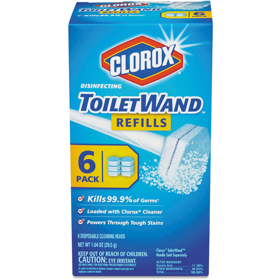 Clorox Disinfecting Toilet Wand Refill, 6 count, 1.04 oz