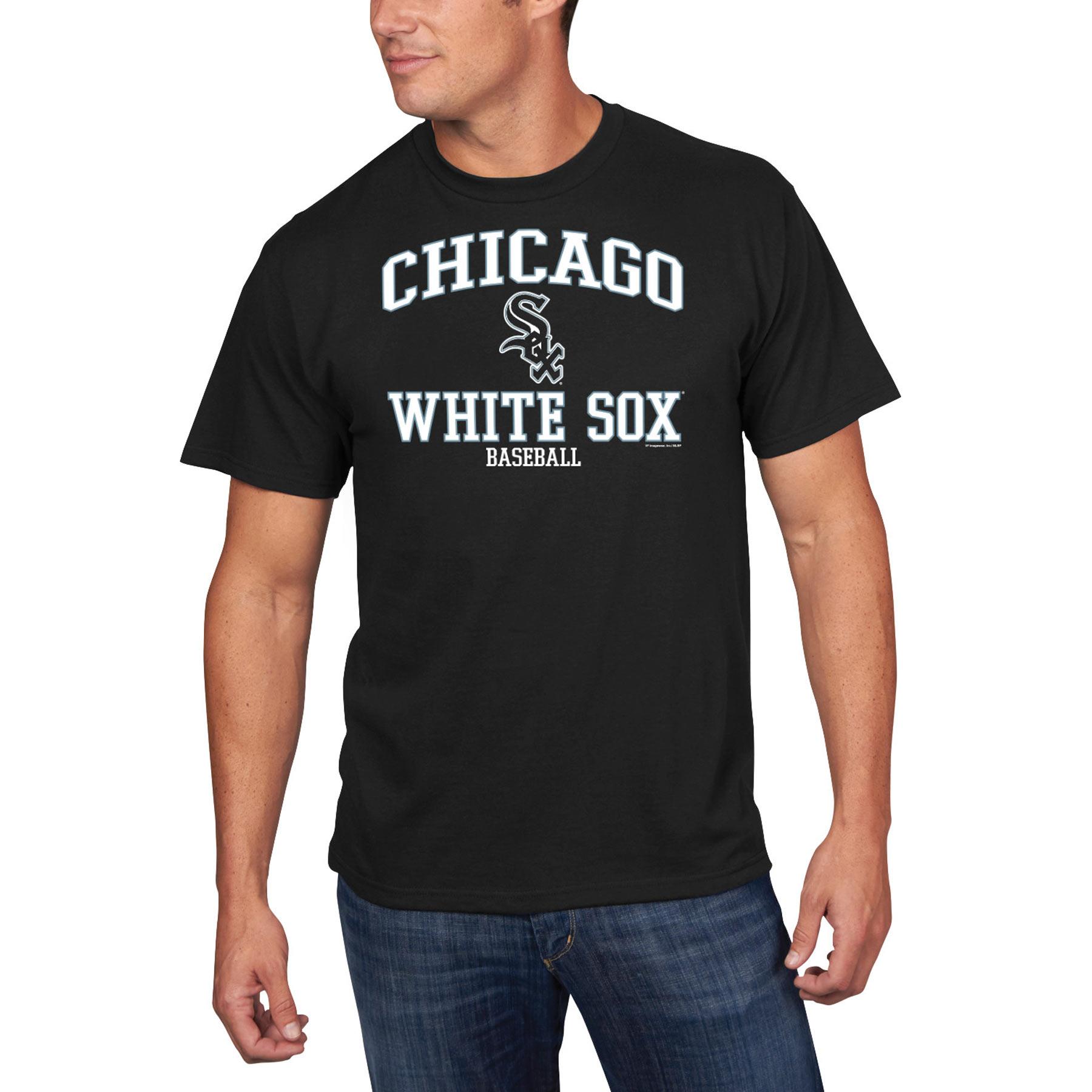 Men's Majestic Black Chicago White Sox High Praise T-Shirt