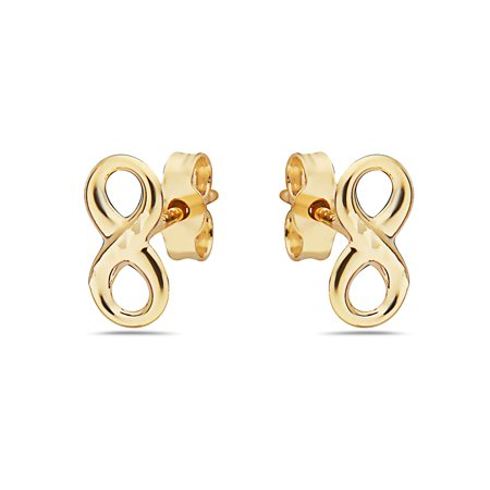 14k Gold Small Infinty Stud Earrings