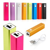 2600mAh Power Bank Portable USB External Battery Charger Cell backup