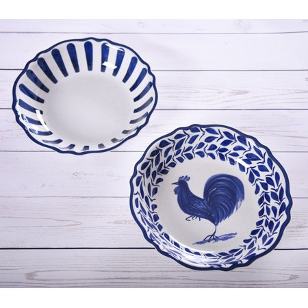 Mainstays Country Classic 2 Pack Melamine Serve Bowl