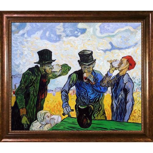 La Pastiche 'The Drinkers (After Daumier), 1890' by Vincent Van Gogh Framed Painting Print