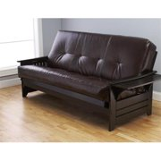 Phoenix Futon in Espresso Finish with Oregon Trail Java Mattress
