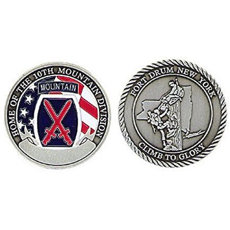 New Fort Drum 10Th Mountain Division Challenge Coin   Ships In 24 Hours By  Ships In 24 Hours By Ccc
