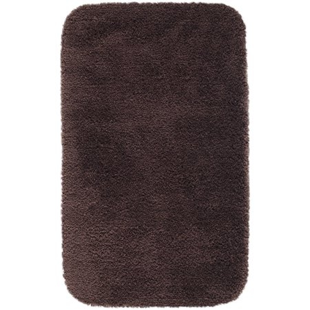Made here bath rug collection dark chocolate brown for Chocolate brown bathroom rugs