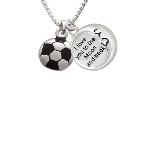 "Soccer ball To The Moon and Back Necklace, 18""+2"""