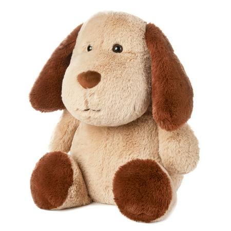 Spark. Create. Imagine. Large Smiling Plush Dog, Brown