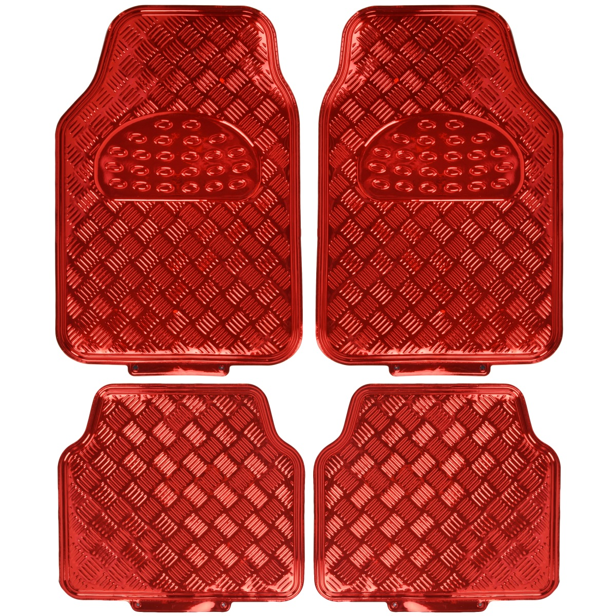 BDK Universal Fit 4-Piece Metallic Design Car Floor Mat ...