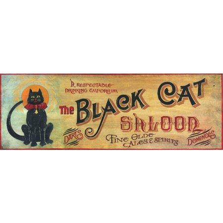 Red Barrel Studio 'Black Cat' Vintage Advertisement Plaque