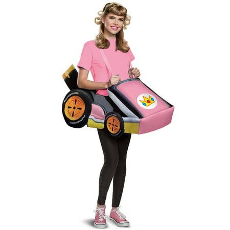 Peach Kart Adult Costume