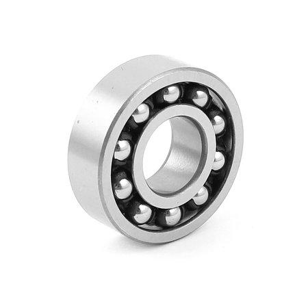 1202ATN 35mm x 15mm x 11mm Auto Self Aligning Ball Bearing Silver Tone