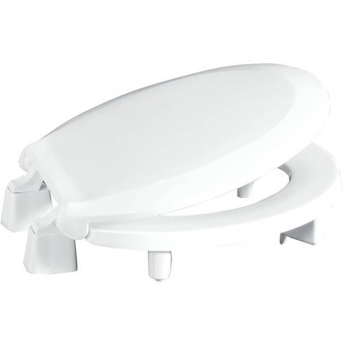 Centoco 3l440sts Round 3 Raised Plastic Toilet Seat Closed Front With Cover White Walmart Com Walmart Com