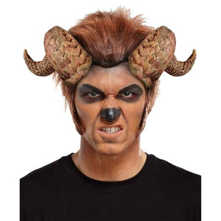 Beast Horns Curled Adult Halloween Accessory - Around The Horn 2017 Halloween