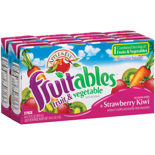 Apple & Eve Fruitables Strawberry Kiwi Fruit & Vegetable Juice Beverage, 6.75 fl oz, 8 count
