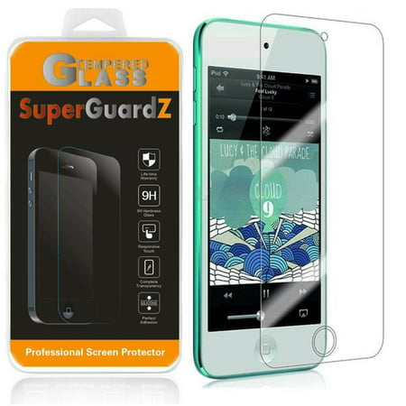For Apple iPod Touch 7 (7th Gen, 2019) - SuperGuardZ Tempered Glass Screen Protector, 9H, Anti-Scratch, Anti-Bubble, Anti-Fingerprint (Ipod 4 Front Screen)