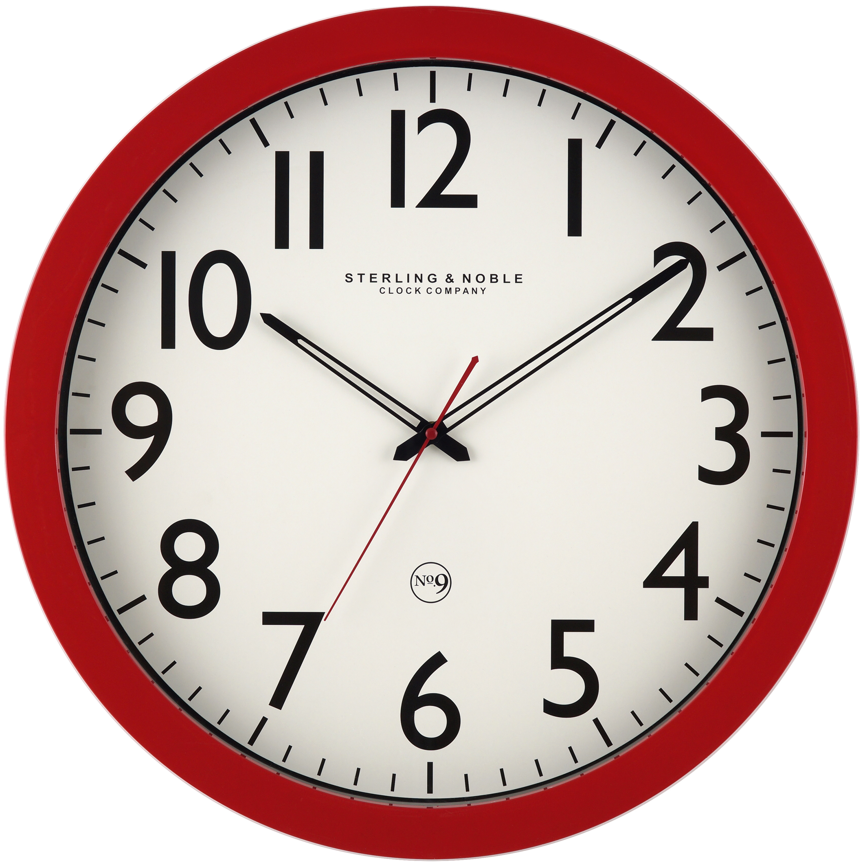 "Mainstays 20"" Red Colored Wall Clock"