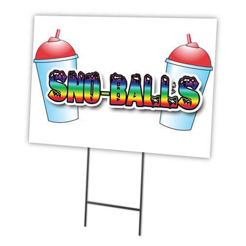 Sno-balls Sugar Free Yard Sign /& Stake outdoor plastic coroplast window