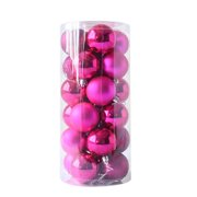 24pcs Shiny and Polshed Glossy Christmas Tree Ball Ornaments Decorations 1.5''