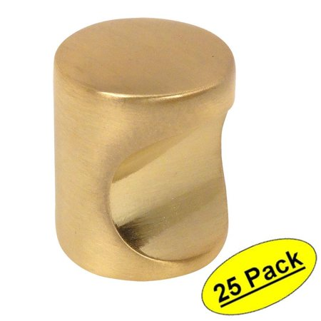 (Cosmas 3312BB Brushed Brass Contemporary Cabinet Hardware Finger Pull - 3/4